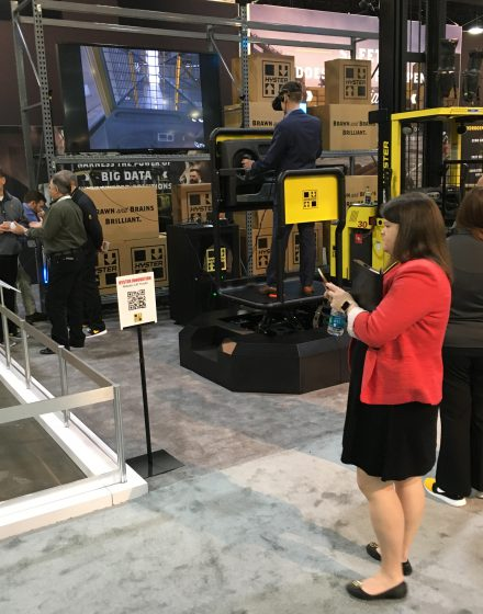 Hyster order picker at Modex 2018